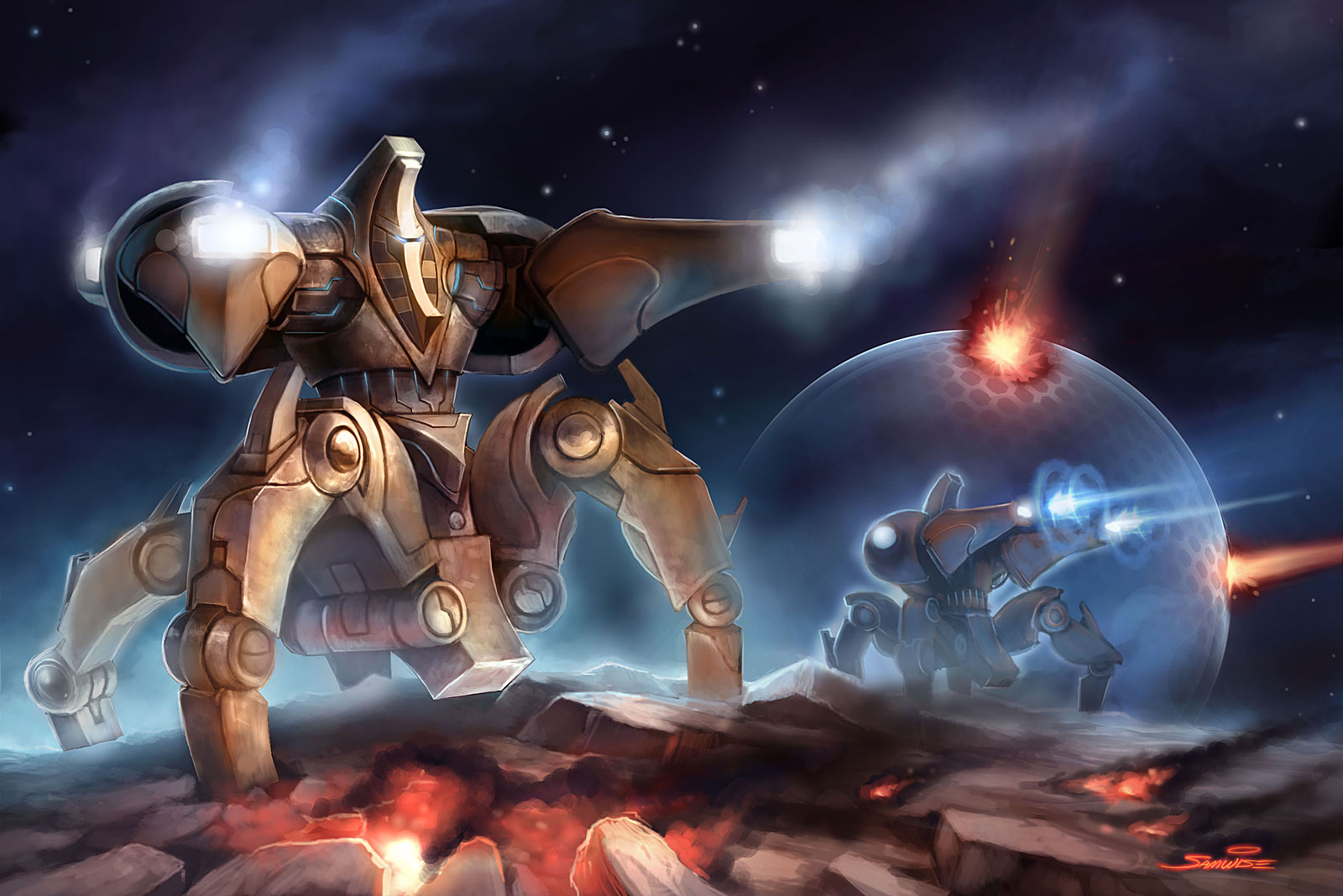 Artwork de Starcraft 2.