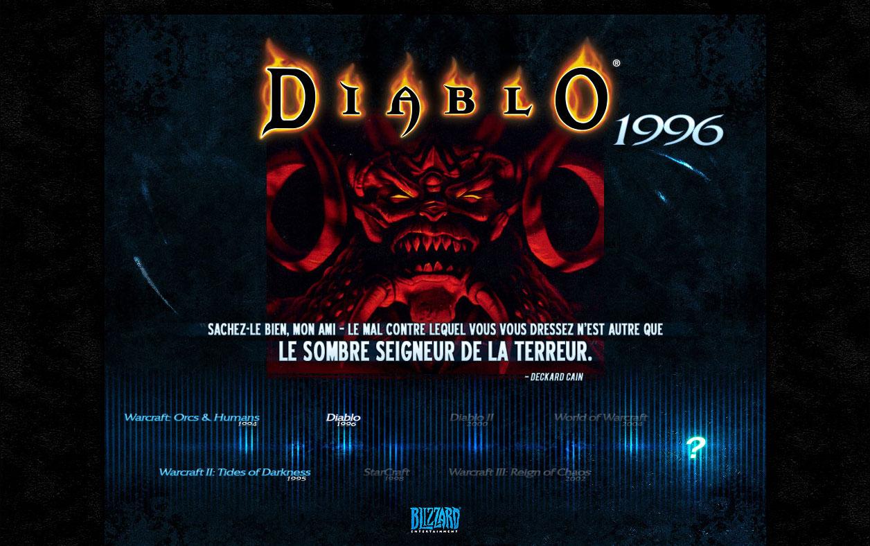Image de la page d'accueil de Blizzard, le 14 mai 2007.