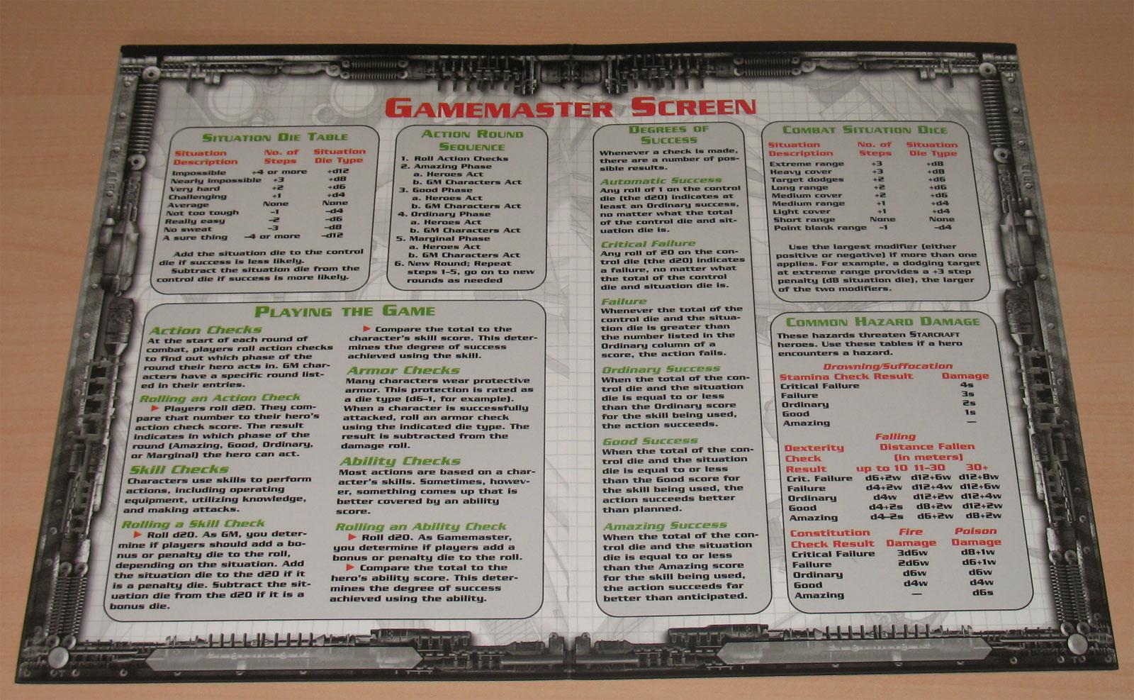 Jeu de rôles sur table Starcraft sorti en 2000 et édité par Wizards of the coast.