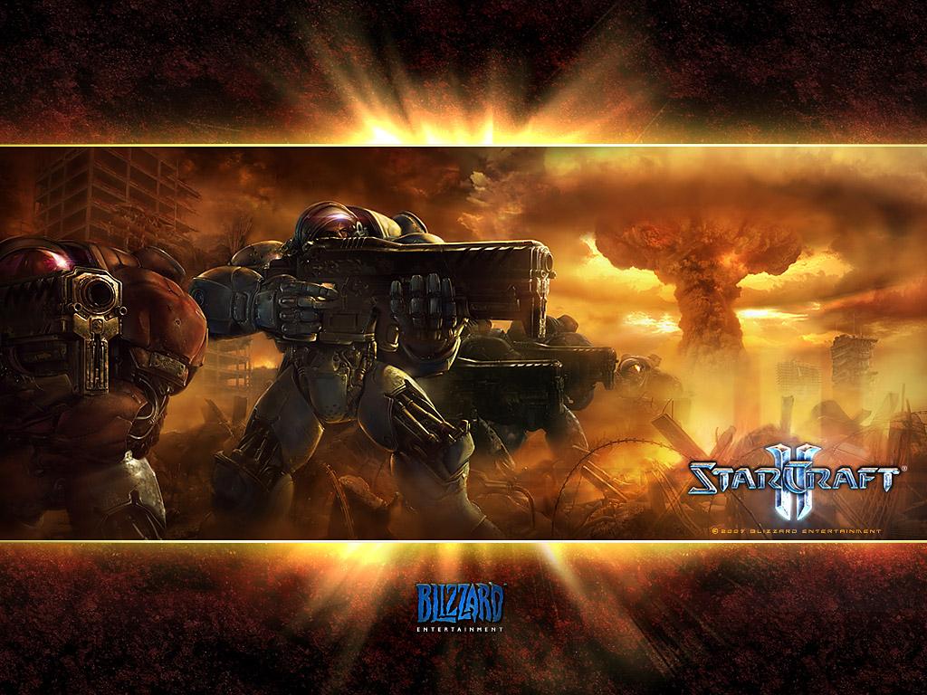 Fond d'écran réalisé par Blizzard.