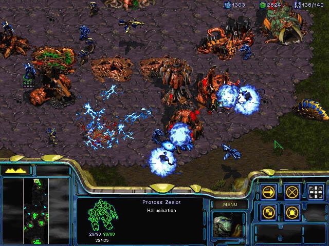Screenshot de Starcraft 1.