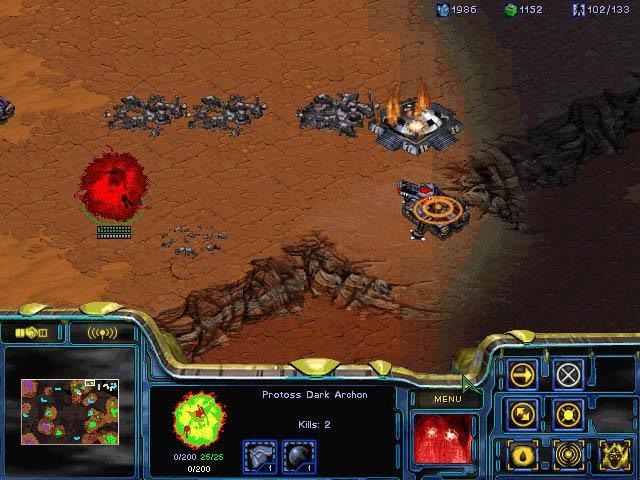 Screenshot de Starcraft Brood War.
