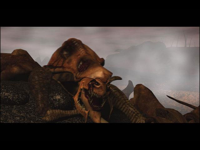 Screenshot d'une cinématique Starcraft Brood War.