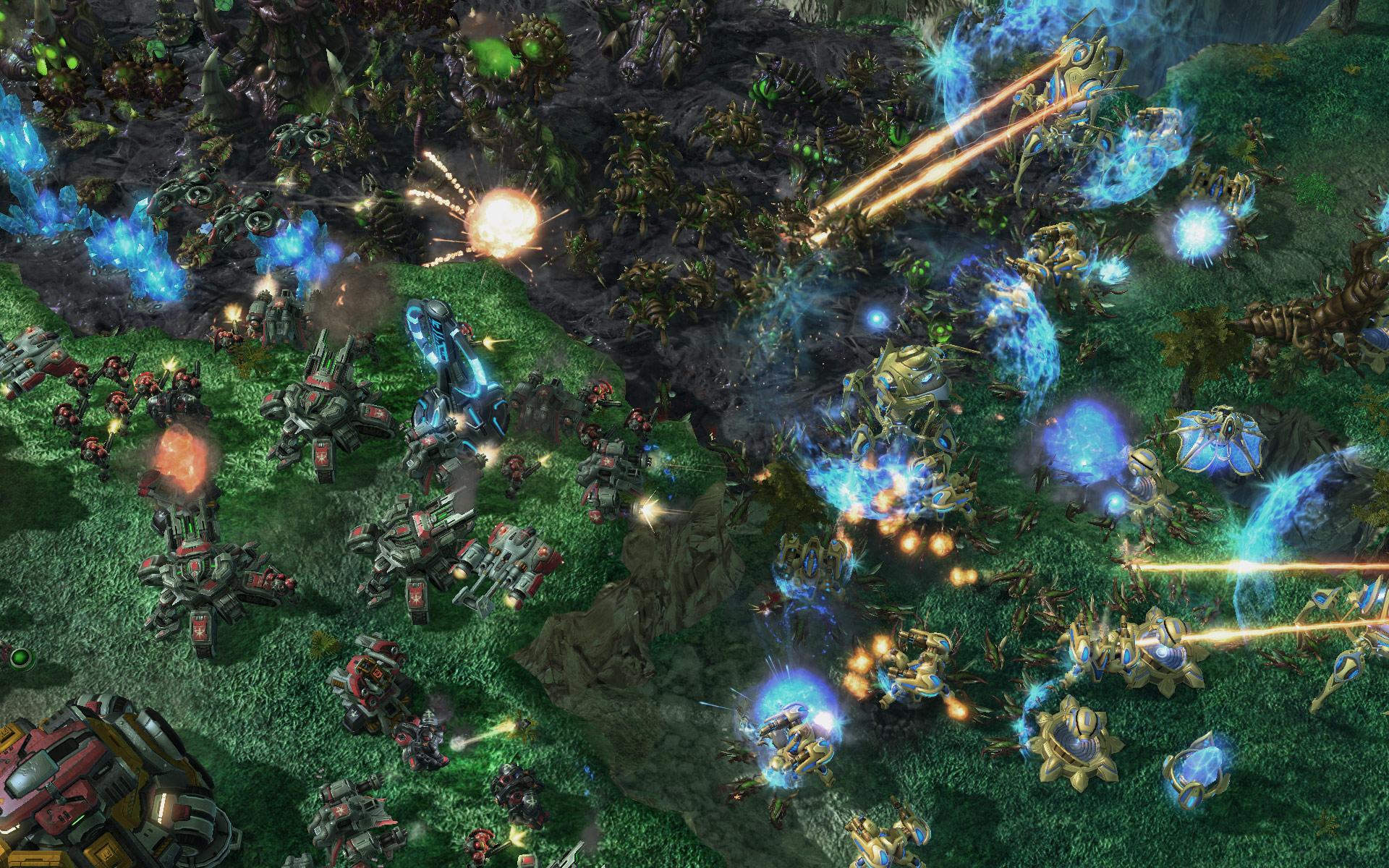 Screenshot de StarCraft II (PvTvZ Haven).