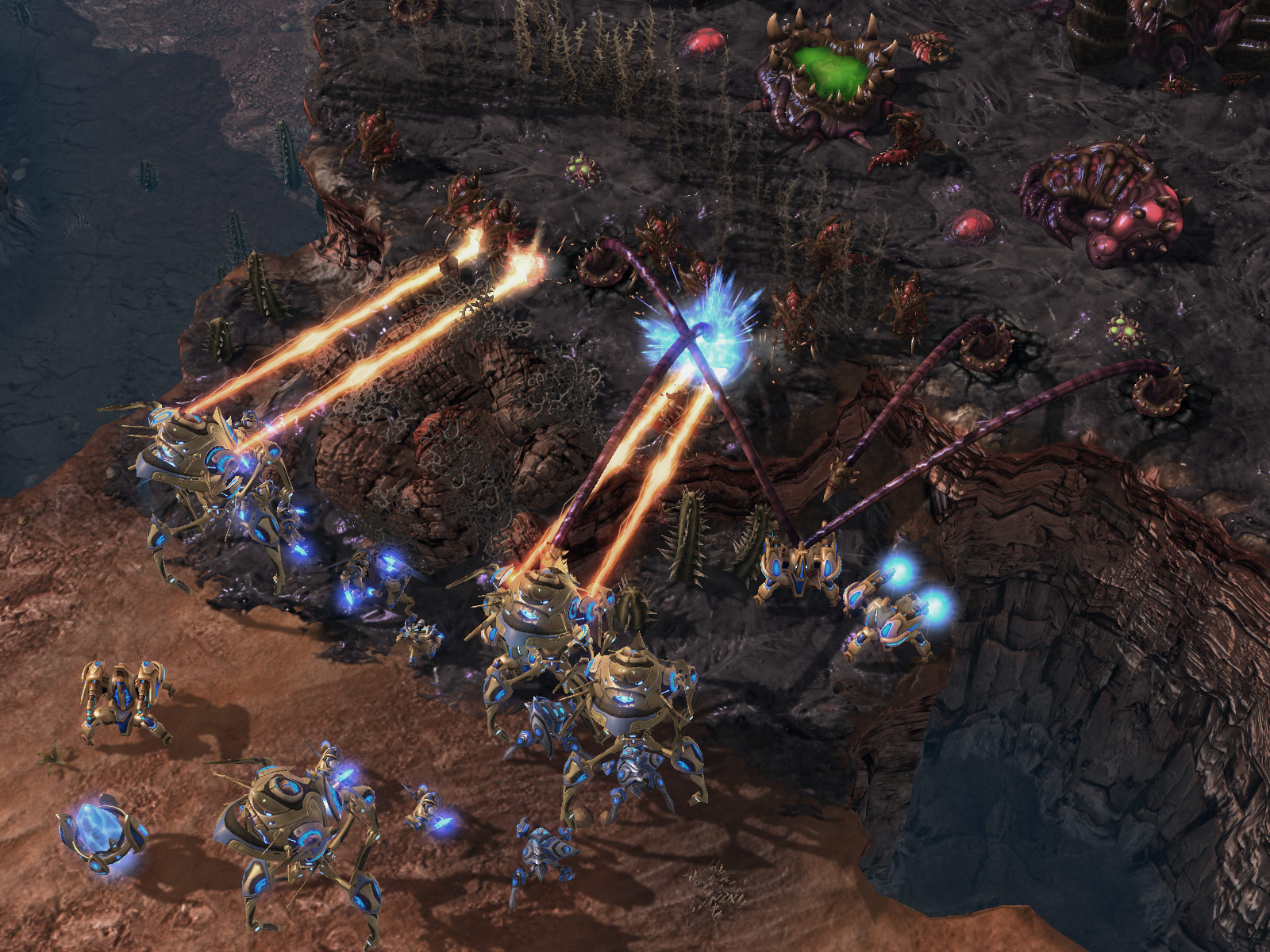Screenshot de StarCraft II (PvZ Mar Sara).