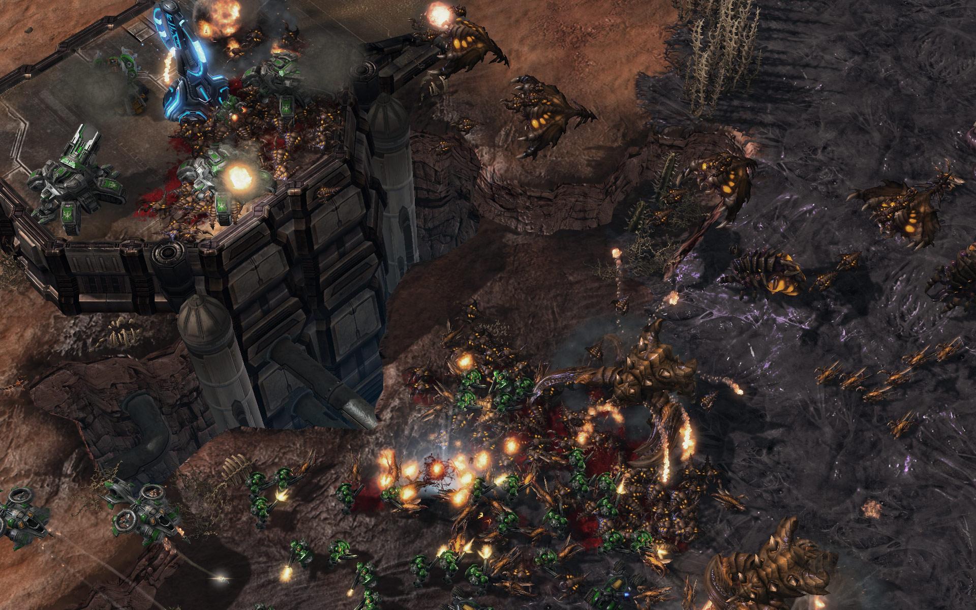 Screenshot de StarCraft II (TvZ Mar Sara).