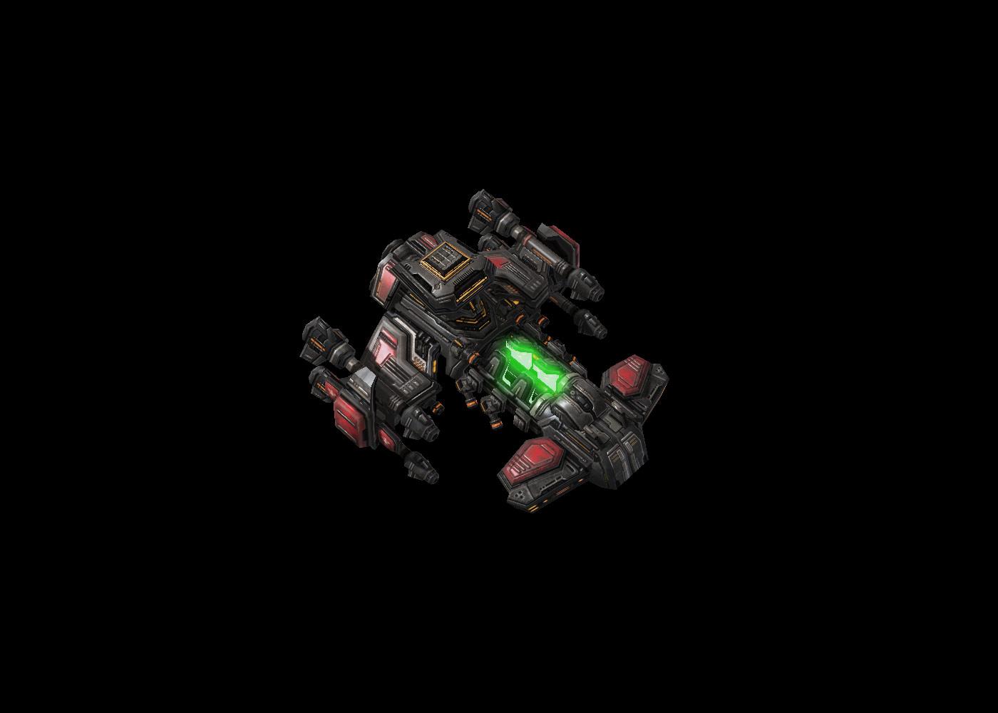 Screenshot de StarCraft II (Battlecruiser Defensive Matrix).