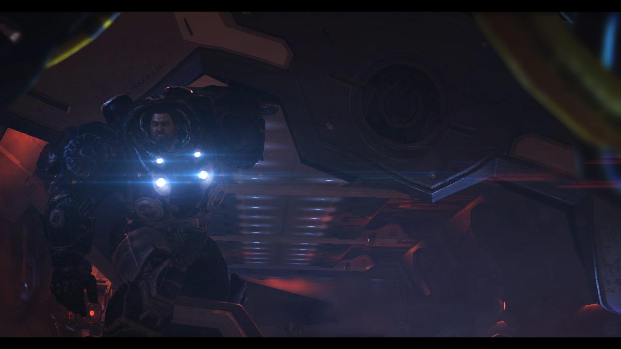 Capture d'écran de la cinématique in-game Heart of the Swarm.